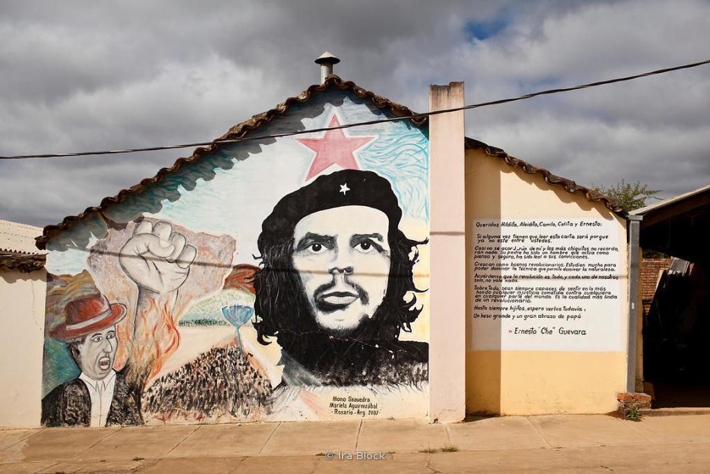 Un mural sur l'hopital de Vallegrande en Bolivie